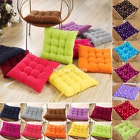 Wholesale 40x40cm Square Pillow Car Office Home Dining Soft Chair Cotton Pad Foam Decor cx85 Freeshipping