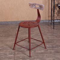 Wholesale Jane Gang New Continental Iron Bar Stool do the old retro bar stools bar stools Home creative leisure