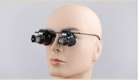 Wholesale 20X Jeweler Watch Repair Magnifying eye Glasses Style Magnifier Loupe Lens With LED Light Loupes bk035