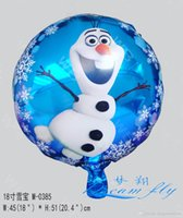 Wholesale Hot sell a inch frozen olaf cartoon party decoratio balloon children toy balloon