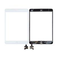 al por mayor chip de contacto ic para el iphone-OEM mini iPad pantalla táctil del digitizador asamblea de cristal frontal con chip IC + Home Button + cámara + Holder preinstalado cinta adhesiva de 3M