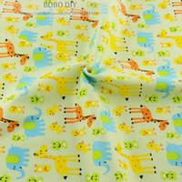 Cheap 50cmx160cm piece deer printed cotton fabric for baby bedding clothing scrapbooking patchwork sewing tilda tecido telas