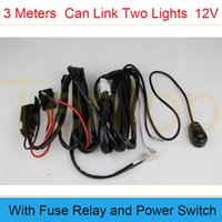 Wholesale Retail Meters Off Road ATV Jeep LED Light Bar Amp Relay ON OFF Switch One Tows Two