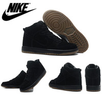woman shoes casual - NIKE Breathable Leather Shoes for Men Women Nike Dunk High Pro SB Black Tank Sport Sneakers Shoes Male Casual Shoes