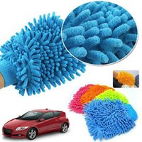 Wholesale Multi use Car Wash Gloves Microfiber Chenille Car Seat Window Steering Wheel Glass Dust Care Cleaning towel in stock