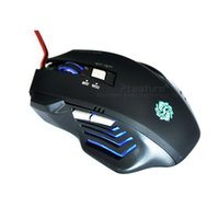 Cheap Ptatoms Micro USB Mouse High Quality Wired Computer Mouse Black Color 800-2400 DPI Best Gaming Mice With Light Breathing 077