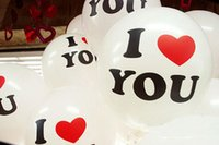 balloons express - Hot Sale inch White I LOVE U Round balloon express airballoon Wedding Decoration Balloons Cheap