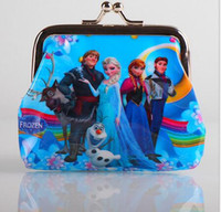 Wholesale New D Cartoon Despicable Me Frozen Cion Purse with Iron Button Shell Bag Small Wallet Card Package