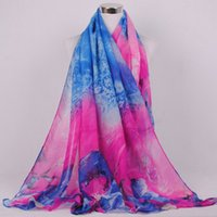 Pashmina big costs - Fashion new winter dream big flower voile scarf long scarf The international fashion trend High cost performance DHL