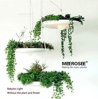 aluminum flower pots - Hanging Gardens of Babylon Plants Lamp pots potted Nordic Tom creative white chandelier lighting Without Plants and Flowers