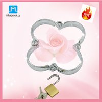 bdsm - 2015 Hot selling BDSM Toys Restraints Handcuffs Stainless Steel Handcuffs Adult Sex Toys For Women free ship
