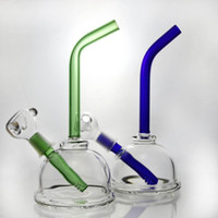 best stems - Best Recycler glass bong glass oil rig glass smoking pipe down stem glass water pipe blue Green black