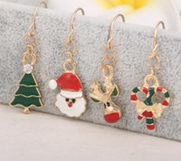 american crafts christmas - 10Pairs Mix Style Christmas New Year Fashion Earring For Craft Fashion Jewelry Gift EA010