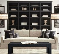 wood bookcase - Iron wood wardrobe do the old wood bookcase Nordic expression American Village French country retro furniture