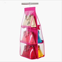 bag suspension - Large Capacity Layers Storage Bag For Bags Handbags Holder Armoire Hang Suspension Type Wall Pockets Organiser
