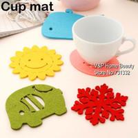 Wholesale 10 Color Cup Mat Kitchen accessories Tea pad Placement table Cotton Felt Coaster Crochet Doilies Novelty households