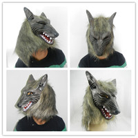 Wholesale In costume party supplies Gray Wolf latex Halloween mask animals terrorist mask Christmas retail sales bar items