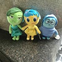 anger free - Anime moive toys Pixars Inside Out Plush Set Joy Anger Fear Sadness Disgust stuffed plush toys pendant gift A