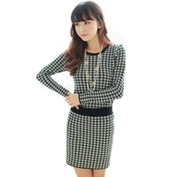 argyle sweater dress - Sweater dress pullover Pregnant women fashion argyle spring and fall clothes FG1511