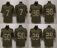 eagles football jerseys - Eagles Sam Bradford DeMarco Murray Kiko Alonso Connor Barwin Green Salute To Service Limited Jersey Stitched