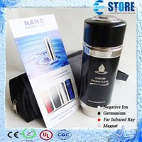 Stocked alkaline water drops - New Arrival Design ML Stainless Steel Water Cup Alkaline Water Energy Nano Flask Nano Energy Cup Free Drop Shipping