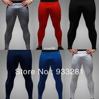 Wholesale men compression tights sports mens skinny sweatpants training running fitness cycling ski pants basketball leggings sportswear