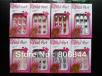 Wholesale 30x set Pre Designed French ABS False Nail Full Tips with Free Nail Glue