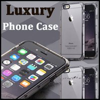 apple protective cover - Fashion Shockproof Protective Shell Soft TPU Transparent Back Clear Case Cover For iPhone S Plus inch MOQ