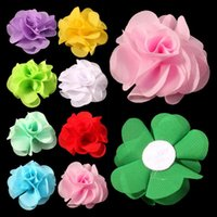 artifcial flower - 30pcs quot Colors Newborn Soft Chic Chiffon Flower For Baby Girl Hair Accessories Artifcial Fabric Flowers For Headbands