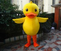 Wholesale Yellow duck mascot costume Adult sized