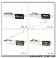 Wholesale YHT Fashion Father of the Bride Wedding Tie Clips Mix Styles Acceptable