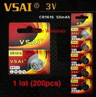 alarm remote battery - CR1616 V lithium button battery for car remote control alarm key electronic watch toy VSAI