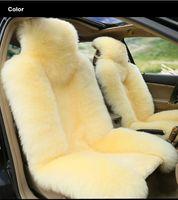 sheepskin car seat covers - 8 colors Super Warm Wool Car Seat PC Car Cushion Driver seat Cushion co Pilot Cushion winter new plush car pad seat