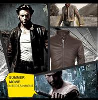Wholesale New Punk Rock Men PU Leather Rivet Jackets Washed Brand THOOO The Wolverine otorcycle Jackets Slim Zipper Short Jacket Outwear S XL