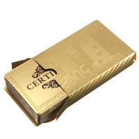 Wholesale 24K Carat Gold Foil Plated Poker Game Playing Cards Gift Collection Certificate