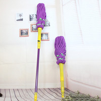 Wholesale Hot Sales Rotating Twist Water Mops Floor Cleaner Telescopic Microfiber Mop Head Retractable Magic Mop Home Cleaning Tools JG0023