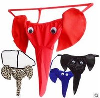 Wholesale The elephant thong underwear men s appeal cartoon sexy T pants sexy lingerie elephant underpants or retail
