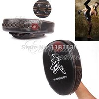 Wholesale 2pcs New black for Karate Muay Thai MMA Boxing Mitts Training Target Focus Punch Pads Glove PU EVA Material
