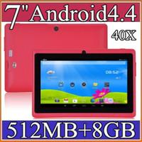 "Cheap 40X 7 inch Android4.4 Google 3000mAh Battery Tablet PC WiFi Quad Core 1.5GHz 512MB 8GB Q88 Allwinner A33 7"" Dual Camera 2-7PB"