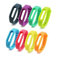Wholesale Xiaomi Colorful Wearables Straps Soft TPU Rubber With Metal Clasp Silicon Smart Miband Bracelet Replacement For Xiao Mi Smart Bracelet