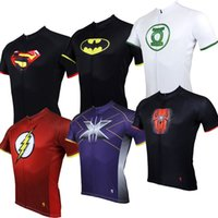 Wholesale FG1509 Styles Cycling Sport Superman Riding Breathable Cycling jersey cycling clothing Cycling short sleeve jersey Tops
