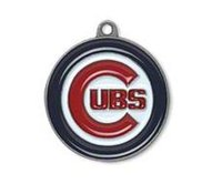 Wholesale 5pcs rhodium plated Chicago Cubs sporty jewelry enamel charms
