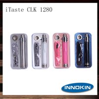 Wholesale Innokin iTaste CLK Battery Original Innokin CLK1280 VV Voltage Variable Pass Through mah Electronic Cigarette Battery