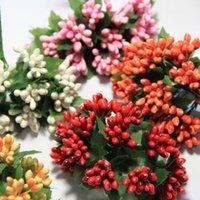 Cheap Simulation Beads Plastic Beads Diy Wedding Corsage Brooch Bridal Wreath Garland Wedding Car Decoration Stamens 144pcs Lot