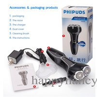 Wholesale 1PCS BLACK USB Rechargeable Good Mens Electric Shaver Shaving Razor Quickly rinses clean under the tap