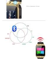 2015 GV09 inteligentes reloj Bluetooth inteligentes relojes del reloj de pulsera con cámara de Samsung HTC SONY XIAOMI HUAWEI LG con el paquete al por menor