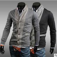 animal print knitwear - fashion autumn Mens sweaters male V neck winter Cardigan men Knitwear Sweater Slim Casual Sweater brand cardigan masculino hight quality fre