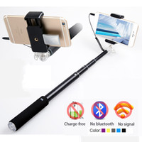 alloy aluminium wire - Mirror Crystal Holder Wired Aluminium Gopro Camera Tripod Selfie Stick Monopod Handheld With Audio Cable For iOS Android Mobile Phone