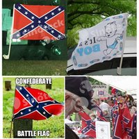 flag pole - Car WINDOW STICK Confederate Flag Rebel CSA Battle New cm Civil War Flags Hand Type Polyester with Pole DHL Factory DIRECT IN STOCK