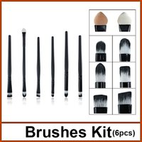 Wholesale hot quality professional cosmetic brushes brushes set for eye makeup brushes set set EB6010